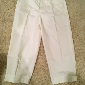 Chico's womens off white capri/crop pant